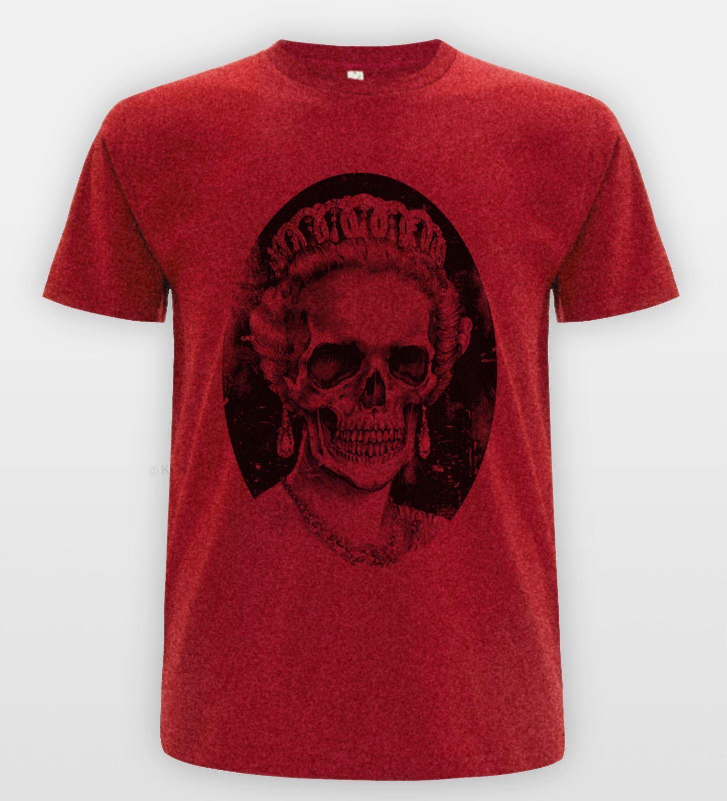 Royal Crâne TEE Reine Angleterre T-Chemise Blvck Indie CLUB TEE Crâne religion Skeleton Top eaab47