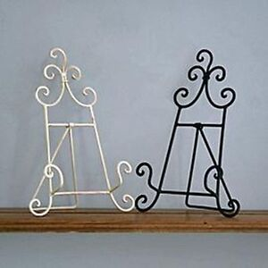 New vintage style metal recipe cook book stand holder cream or black ebay - Cream recipe book stand ...