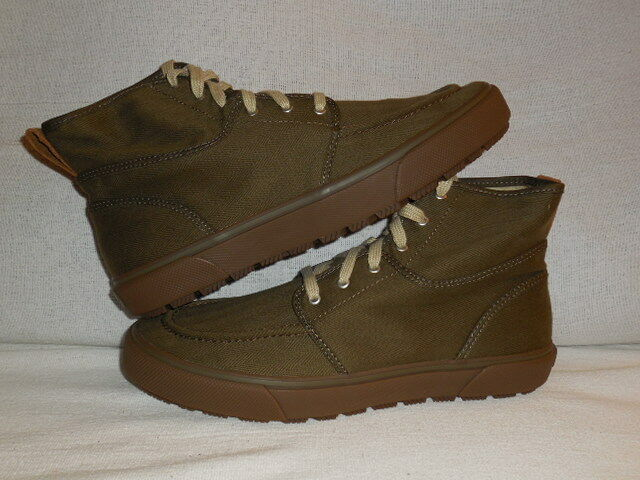 Sperry Top-Sider Men's Bahama Lug Naval Olive Heavy Canvas Ankle Boot