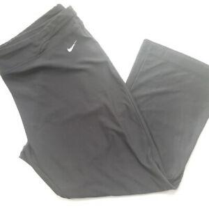 Nike Dri-fit Women Black Cropped Capri Leggings XL Loose Fit Work Out Exercise