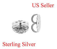 1 PCS Sterling Silver 9.20 mm Rosette earring backing Jumbo Large