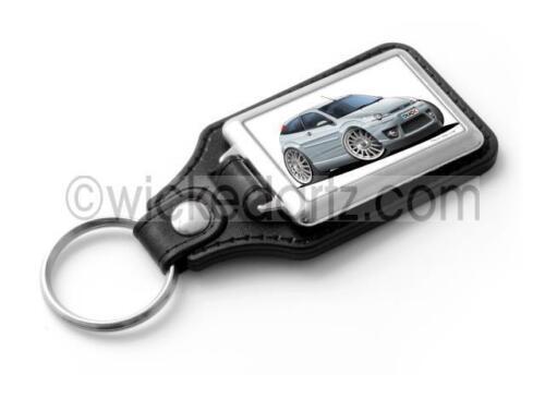 WickedKarz Cartoon Car Ford Focus MK1 ST170 in Silver Stylish Key Ring