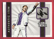 JUSTIN BIEBER AUTHENTIC WORN Gray & Black Design MATERIAL SWATCH RELIC 2012 BABY