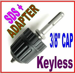 "1 pc SDS plus Adapter & 3/8"" CAP Drill Keyless Chuck S"