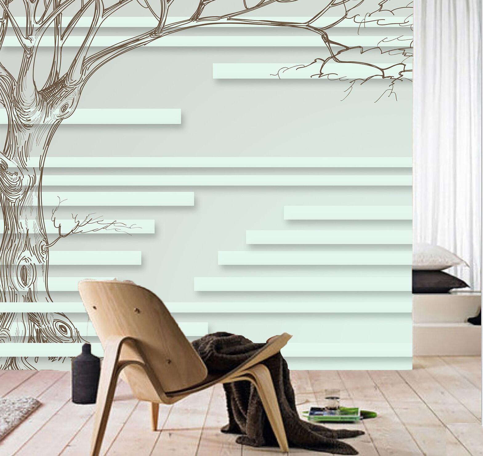 3D Tronco Alber 4 Parete Murale Foto Carta da parati immagine sfondo muro stampa