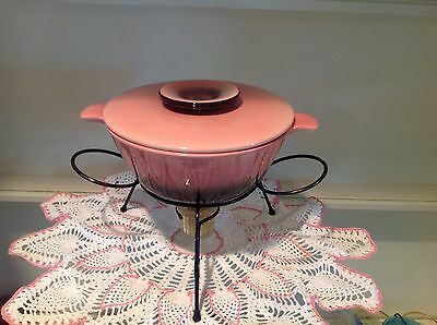 Vintage Pink/Black Chafing Dish with Server Warmer