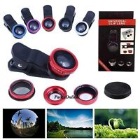 3 in 1 Camera Lens Wide Angle Fish Eye Macro Clip for iPhone 5S SE 6 6S Plus 7