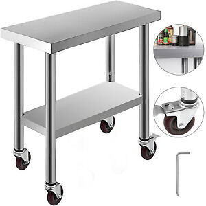 30-034-X12-034-Kitchen-Work-Table-with-Wheels-Commercial-Food-Prep-Stainless-Steel
