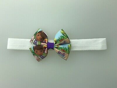 Doc McStuffins hair bow with headband diff you pick headband