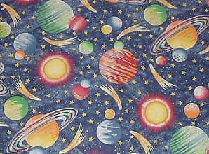 Quilts tops blocks pieces patterns vintage new for Retro space fabric uk
