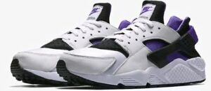 163a88765530 Nike Air Huarache Run  91 QS WHITE PURPLE PUNCH GRAPE BLACK ALL ...