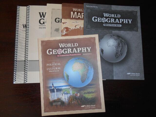 World Geography set lot of 6 stu/te homeschooling Abeka book 9th grade History