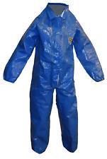 Kappler 41250 Blue Large Hazmat Coverall Suit Cpf Splash Protection