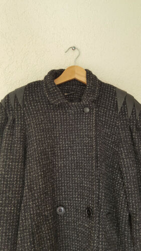 mélangée Unis Manteau États en laine grand noir femmes aux à en Micki pour fabriqué pour bouton Vtg femmes tweed AUwwz
