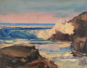 Pacific-Ocean-Six-Original-Expression-Seascape-Oil-Painting-8x10-101817-KEN