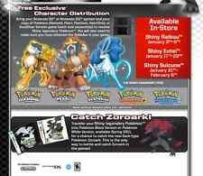 GameStop Event - Pokemon Shiny Suicune Entei Raikou Alpha Omega ORAS XY Sun Moon