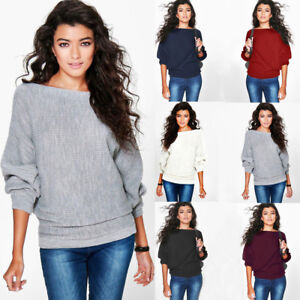 Womens-Long-Sleeve-Baggy-Ladies-Pullover-Top-Knitted-Oversized-Sweater-Jumper-UK