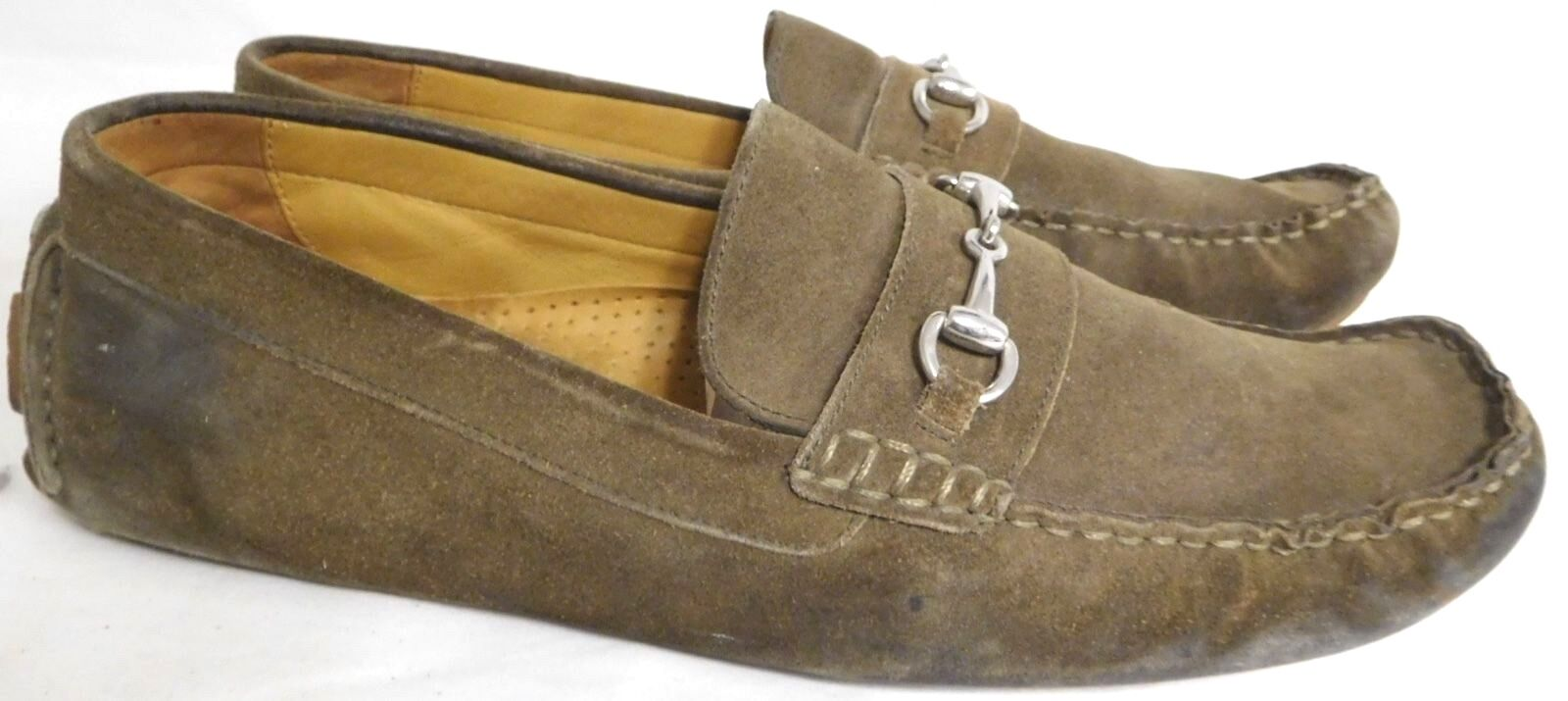 COLE HAAN LIGHT BROWN SUEDE LOAFERS MOCCASINS MENS SIZE 12 M GUC