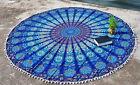 """72"""" Hippie Bohemian Mandala Round Tapestry Roundie Beach Throw Indian Yoga Mat>P"""