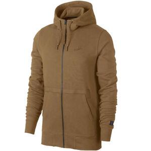 f55a059eeb9 New Nike Sportswear AF1 Air Force 1 Sport Golden Beige Zip Up Hoodie ...