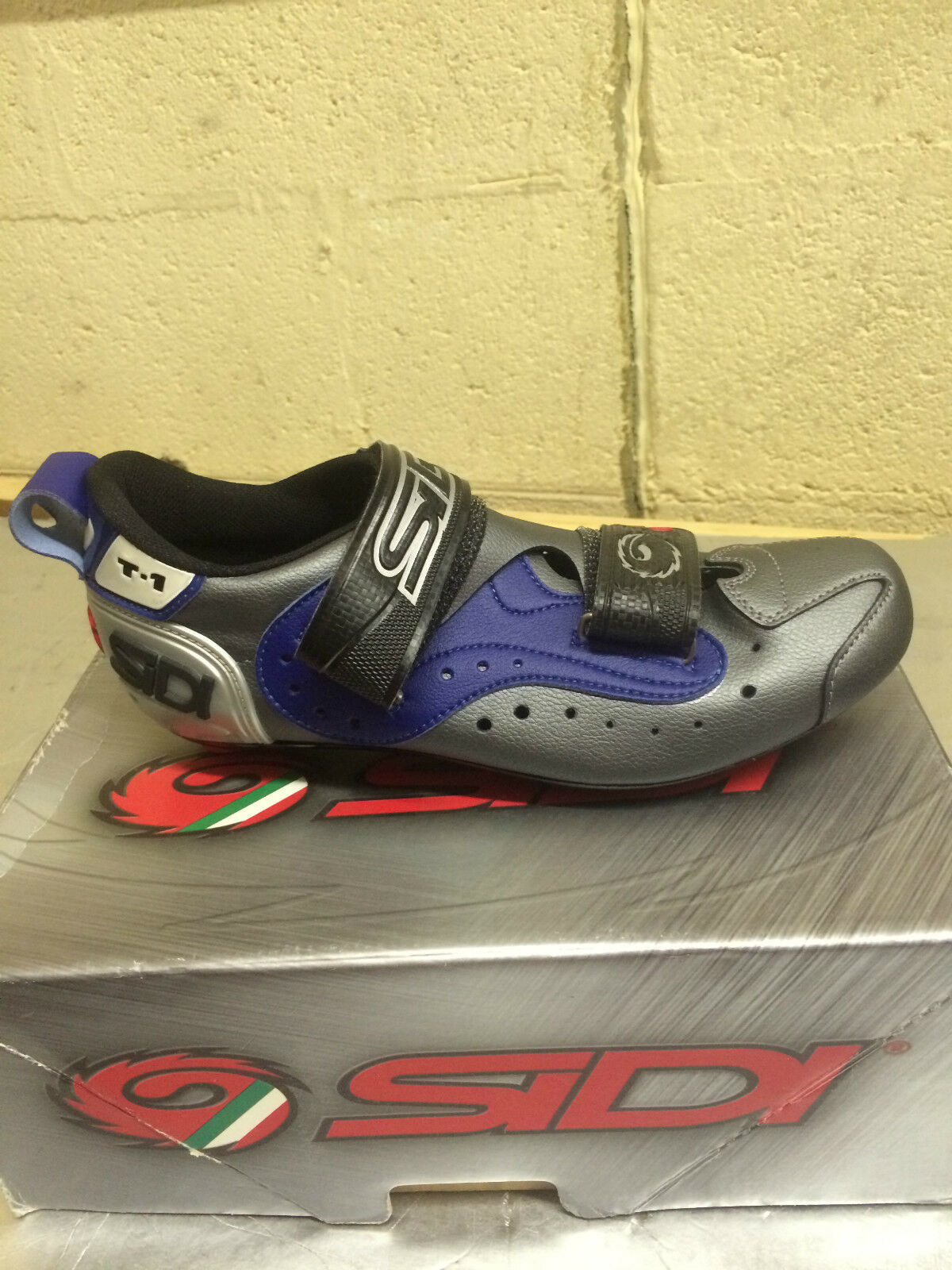 Sidi T-1 Men's Dark blu grigio Triathlon strada Cycling sautope