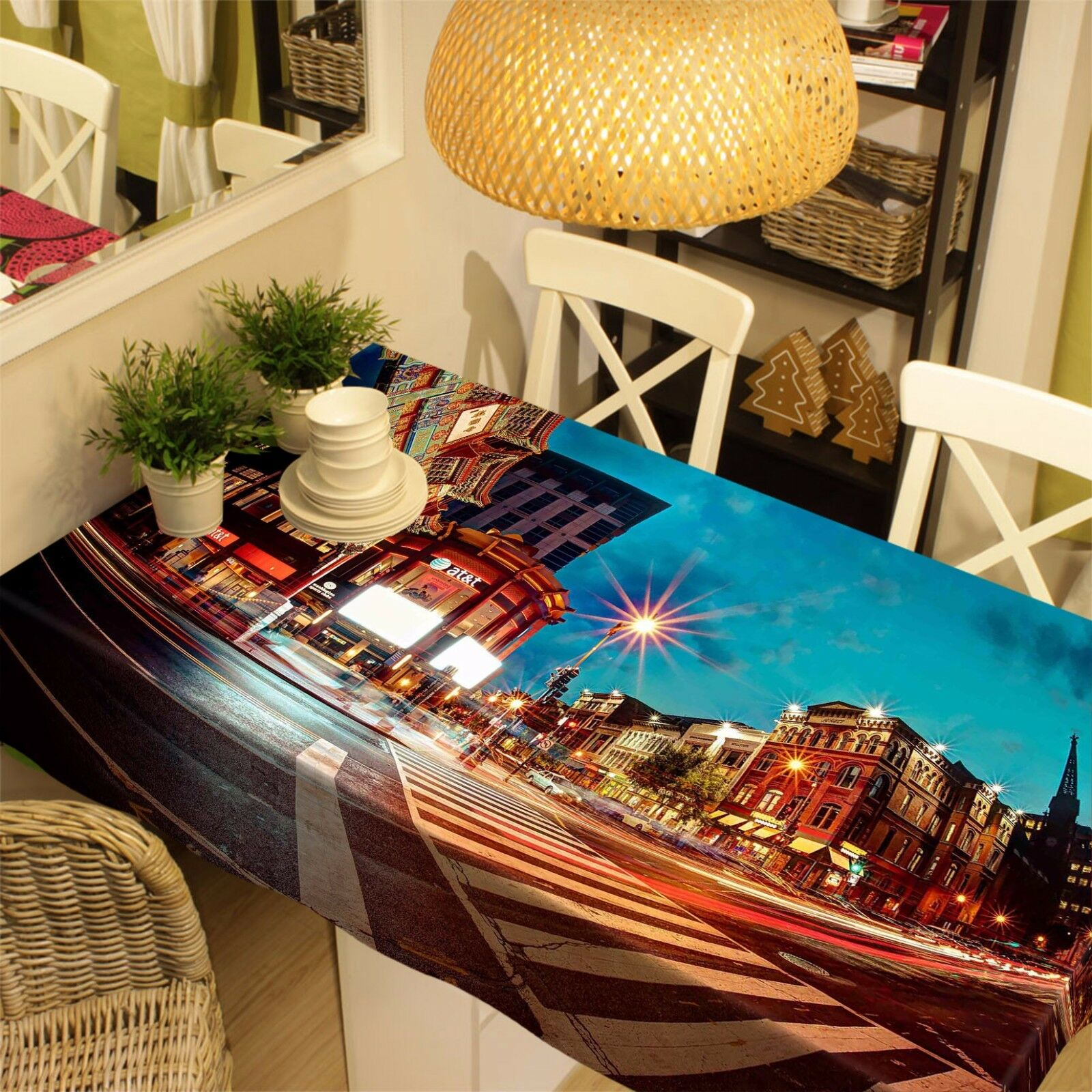 3D Bright City 26 Tablecloth Table Cover Cloth Birthday Party Event AJ WALLPAPER