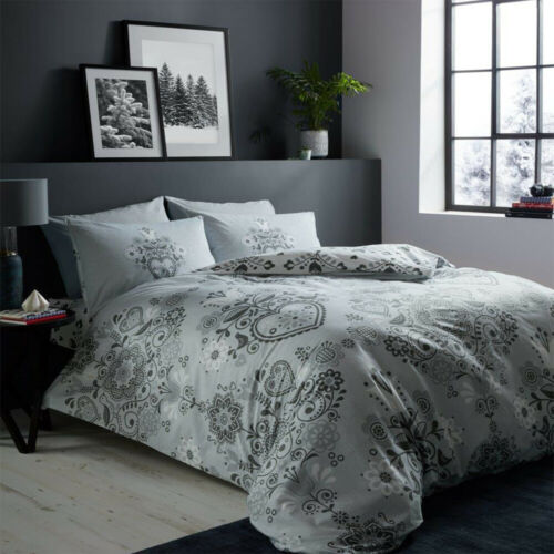 Nordic Duvet Cover Set Single Double King Size Reversible Flannel Bedding Quilt