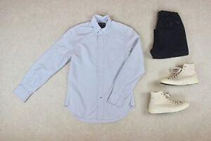 Gitman-Bros-vintage-shirt-bleu-jaune-a-rayures-Petit