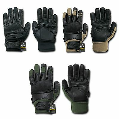 Rapid Dom Gloves Made With Kevlar / Leather Tactical Hard Knuckle Combat Patrol