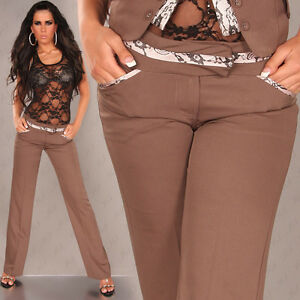 NEW-SEXY-LOW-CUT-DRESS-PANTS-WHITE-CAPPUCCINO-SZ-10-14-OFFICE-PARTY-WORK-CASUAL