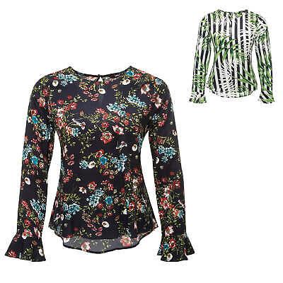 Buono Only Donna Camicette Maglietta Con Floral-print Manica Lunga Top Camicia Donna Blusa Sale%-mostra Il Titolo Originale Moda Attraente