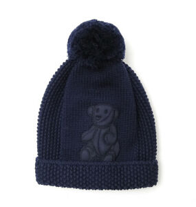 218c6292ff584 Details about NWT NEW Gucci baby boys navy or ivory wool knit hat beanie  teddy S M L 392415