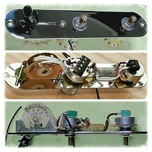 custom 3 way fender telecaster tele control plate wiring harness rh ebay co uk Squier Telecaster Wiring -Diagram Telecaster Wiring Kit