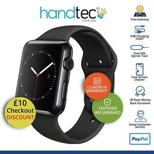 Apple-Watch-Series-3-42-mm-GPS-Cellular-iOS-SmartWatch-Gris-sideral-parfait-Bon-etat