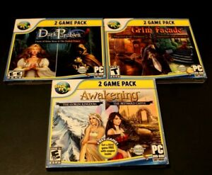 Lot Of Three(3) Big Fish PC DVD-ROM Games Two Games Per Disc, Six(6) Games Total