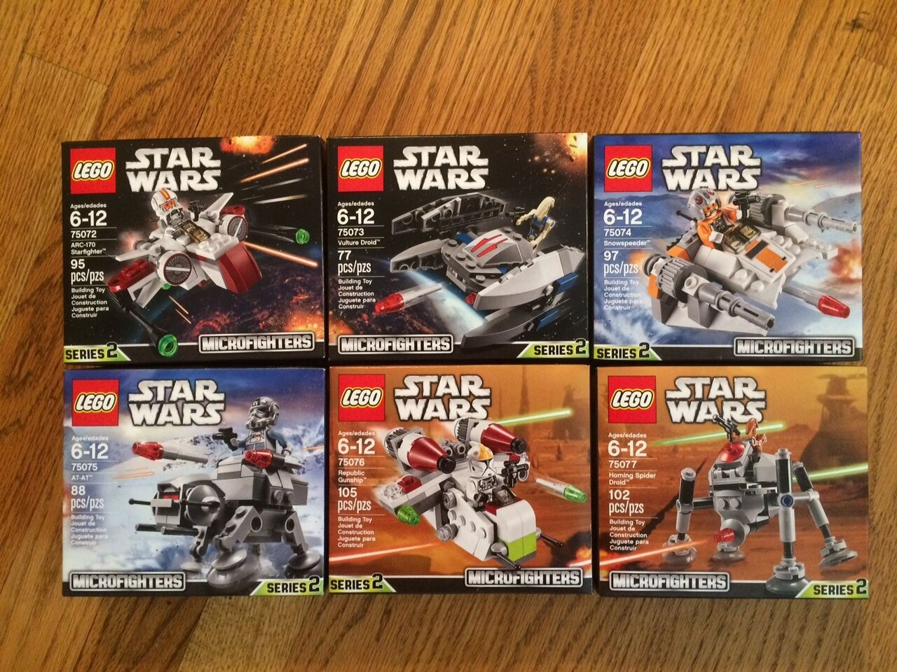 LEGO Star Wars Lot   2 6 pcs. Microfighters 75072 75073 75074 75075 75076 75077