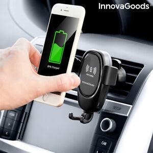 Supporto-per-Cellulare-con-Caricabatterie-Senza-Fili-per-Auto-Wolder-InnovaGoods