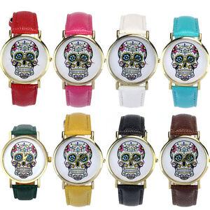 Mode-Frauen-Maenner-Uhr-Punk-Schaedel-Analog-Quarz-Armband-Uhr-Armband-Uhren