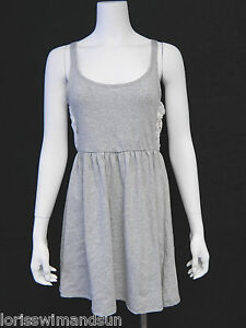 Miken-Medium-Solid-Heather-Gray-Scoop-Neck-Tank-Swimsuit-Cover-Up-M-NWT