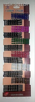 Hair Bobby Pins 96 count Assorted Colors Glittered Shiny - NEW