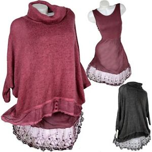 44 Laget Lace Undertøj Tunika uld 46 42 Look Mohair Pullover Kjole Purple wqF4MUX8
