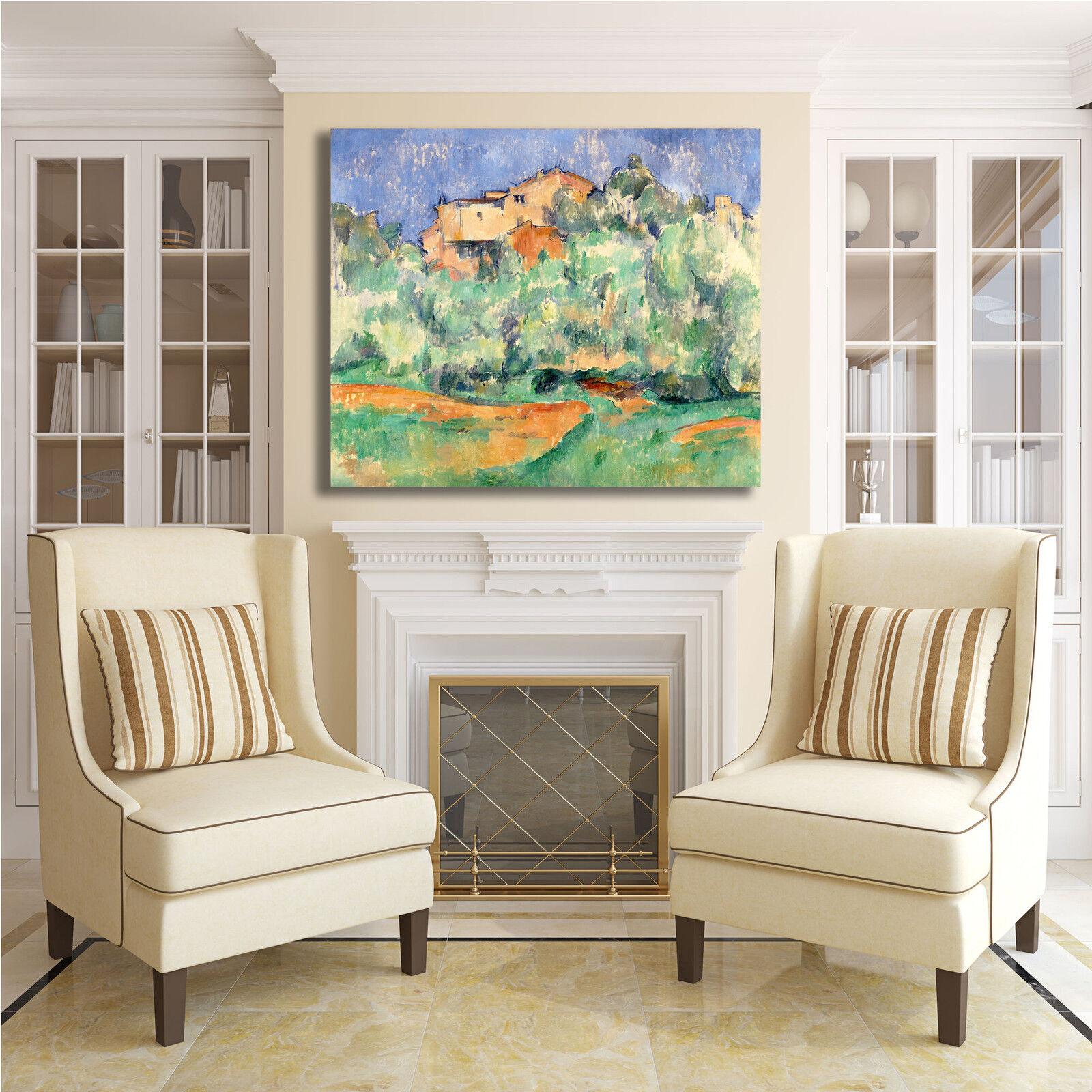 Cezanne fattoria bellevue design quadro stampa tela dipinto dipinto tela telaio arRouge o casa 337a6d