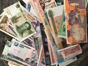 Lot-of-7-Different-Foreign-MONEY-BANKNOTES-WORLD-CURRENCY-uncirculated