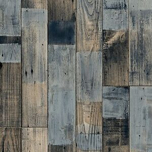 Vinyl Floor Reclaimed Wood Effect Non Slip Flooring Lino