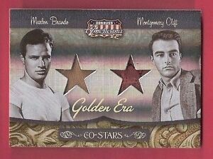 MARLON-BRANDO-GODFATHER-MONTGOMERY-CLIFT-WORN-RELIC-SWATCH-CARD-AMERICANA-d50