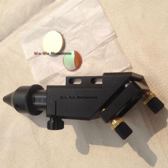 """10600nm CO2 Laser Head + Si Mirro+ ST lens FL 1.5""""2""""2.5""""3""""4""""  Cutter Engraver"""