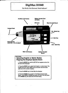 5-PAGE-SCANNED-MANUAL-FOR-FOWLER-DIGI-MAX-D1040-DIGITAL-INDICATOR