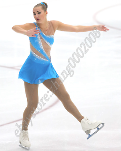 Ice skating dress.Turquoise competition figure skating.baton dance costume