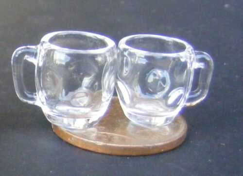 1:12 escala 2 con hoyuelos pinta tazas tumdee Casa De Muñecas En Miniatura De Vidrio Pub GLA40