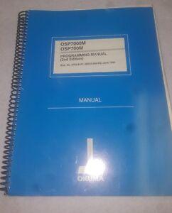 okuma programming manual 2nd edition osp7000m osp700m m7 ebay rh ebay com Okuma Control Modes Okuma Control Auto